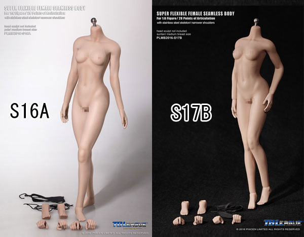 【TBLeague】PLMB2016-S16A S17B ファイセン 1/6スケール シームレス女性ボディ アジア(ヘッドなし)