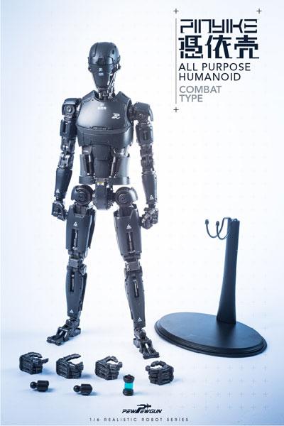 【PEWPEWGUN】PEW01 1/6 Robotic Nude Body 憑依売 PINYIKE COMBAT TYPE (黒) 1/6スケールフィギュア